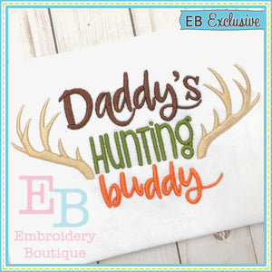 Daddy's Hunting Buddy Design, Embroidery
