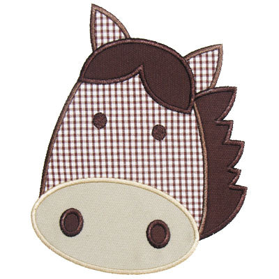 Horse Head Applique - embroidery-boutique