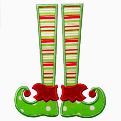 Elf Legs Applique - embroidery-boutique