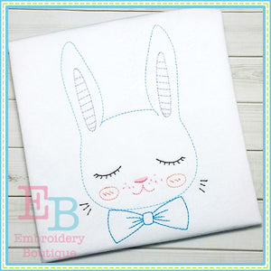 Vintage Boy Bunny Design, Embroidery