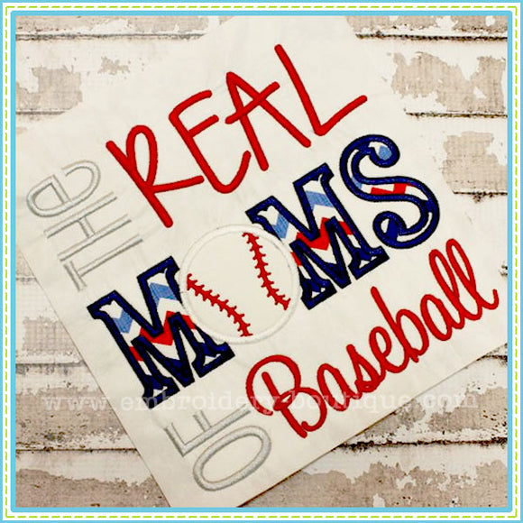 Real MOMS of Baseball Applique, Applique