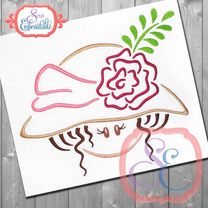 Hat Girl 3 Embroidery Design