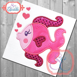 Kissy Fish Applique - embroidery-boutique