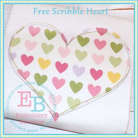 Scribble Heart Applique