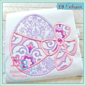 Egg with Bow Applique