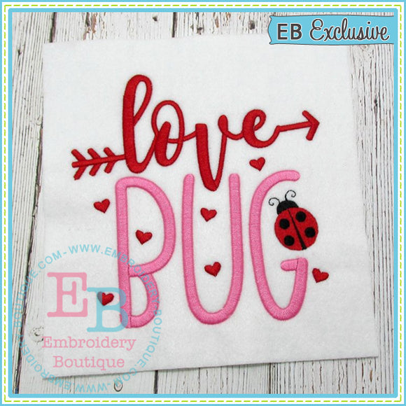 Love Bug Embroidery Design, Embroidery