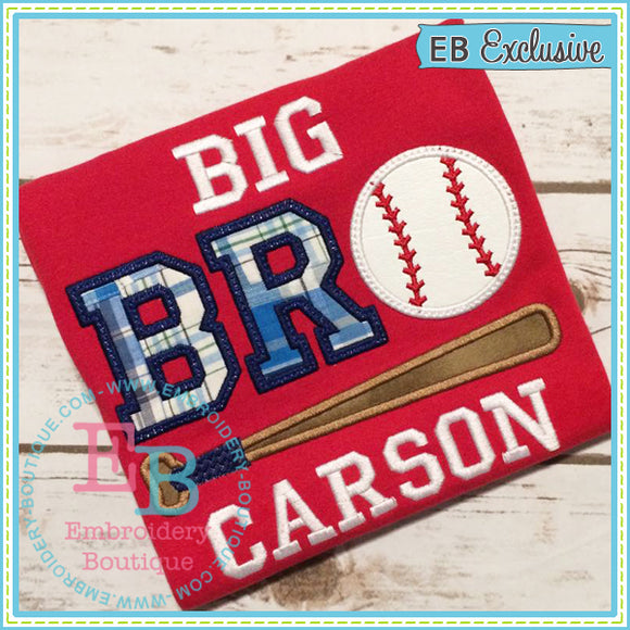 Big Bro Baseball Applique - embroidery-boutique