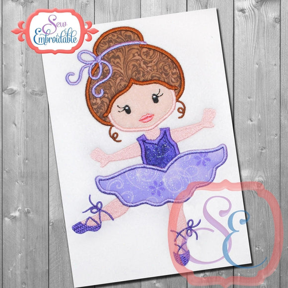 Ballerina 7 Applique - embroidery-boutique