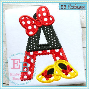 Magical Bow Shoes Applique Alphabet, Applique Alphabet