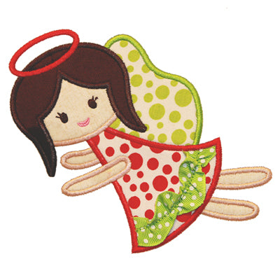 Ric Rac Angel Applique - embroidery-boutique