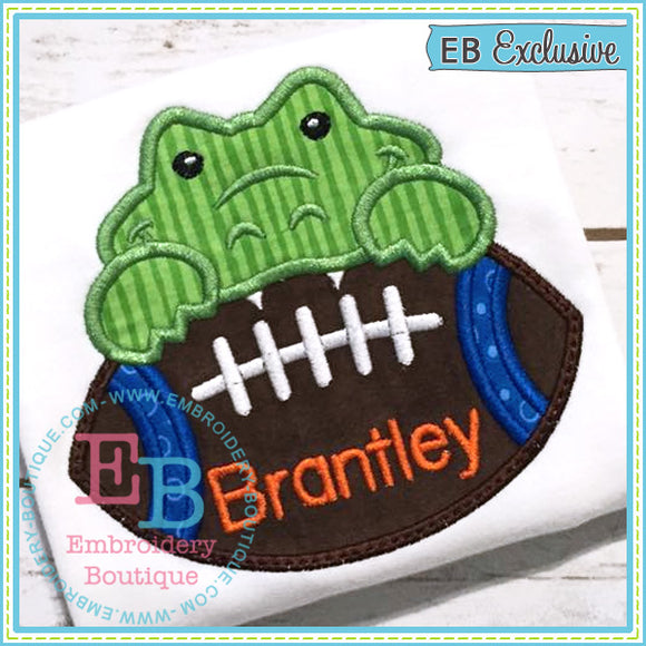 Football Gator Boy Applique, Applique