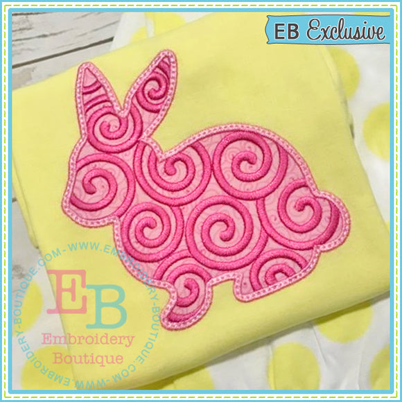 Swirl Bunny Applique