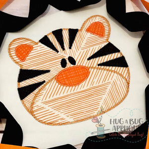 Tiger Zig Zag Stitch Applique