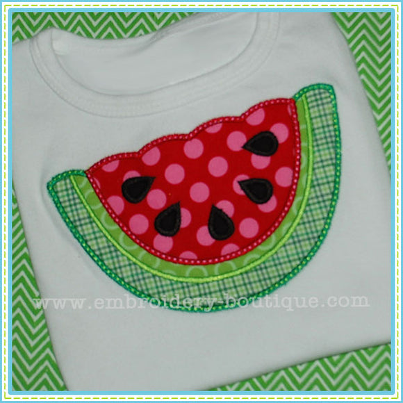 Scalloped Watermelon Applique - embroidery-boutique