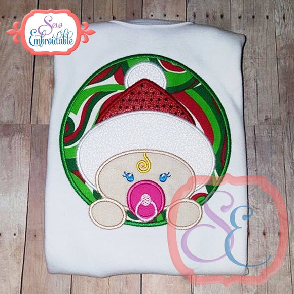 Christmas Baby Girl Applique - embroidery-boutique
