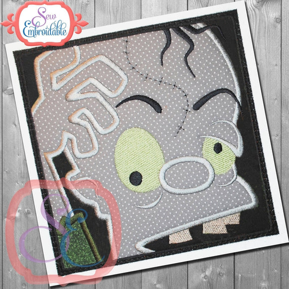 Box Zombie Applique - embroidery-boutique