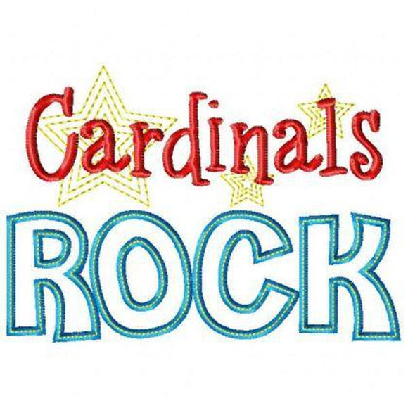 Cardinals Rock, Applique
