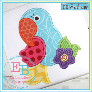 Parrot Applique - embroidery-boutique