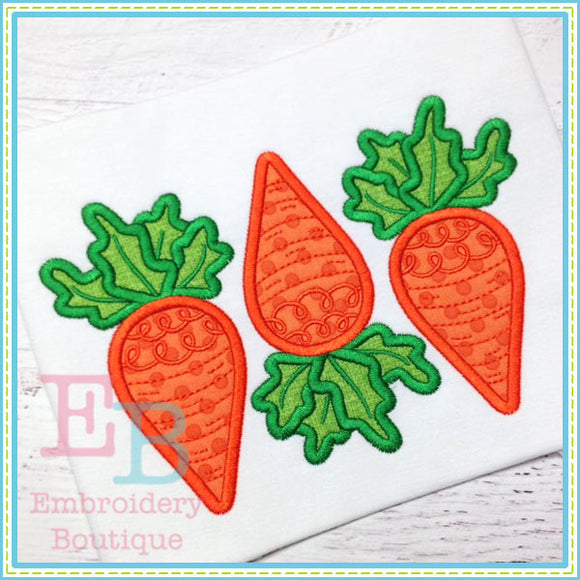 3 Carrots Applique