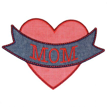 Mom Heart Applique - embroidery-boutique