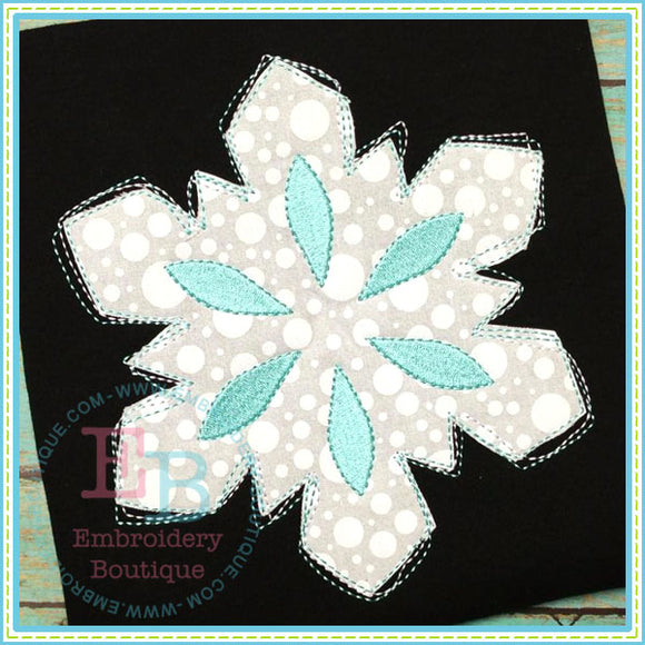 Scribble Snowflake Applique - embroidery-boutique