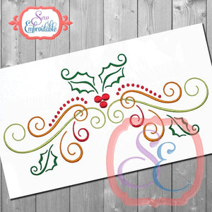 Big Holly Swirl Embriodery Design