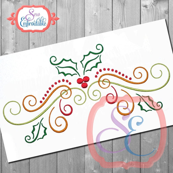 Big Holly Swirl Embriodery Design - embroidery-boutique