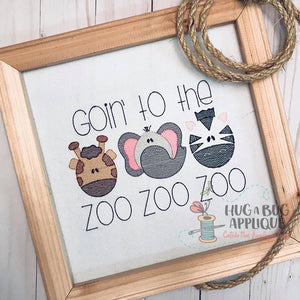Zoo Trio Sketch Stitch