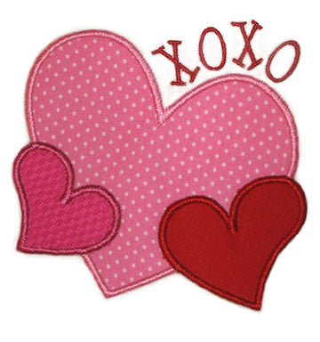 XOXO Heart Applique - embroidery-boutique