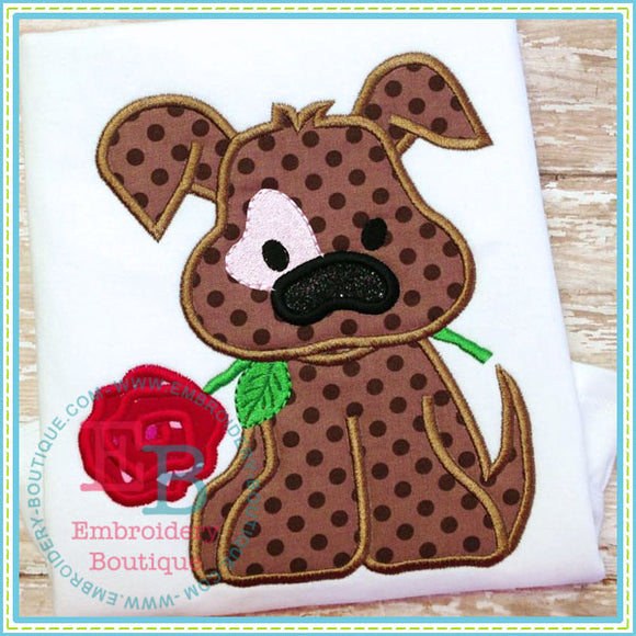 Vday Dog Applique, Applique