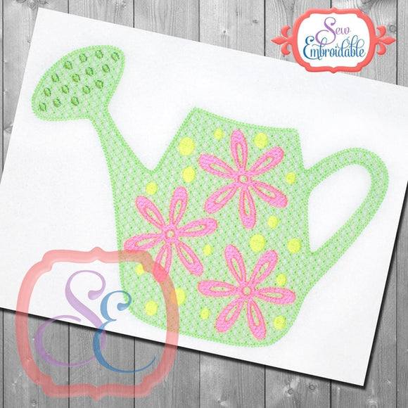 Motif Watering Can Embroidery Design, Embroidery