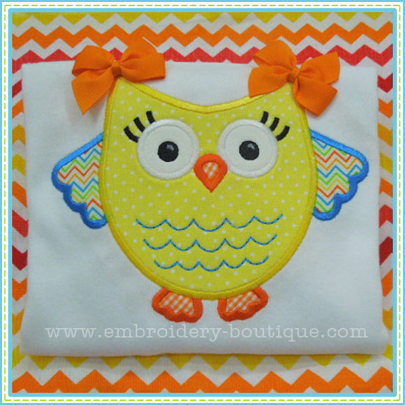 Chunky Owl Applique, Applique