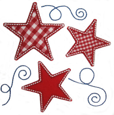 Stars N Swirls Applique - embroidery-boutique