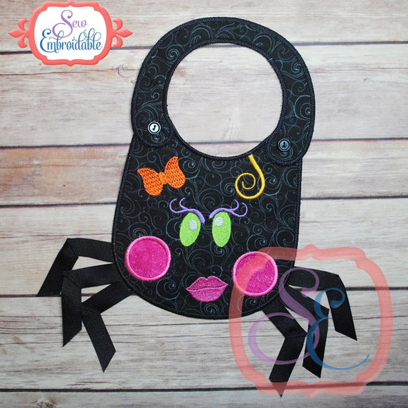 ITH Girl Spider Baby Bib - embroidery-boutique