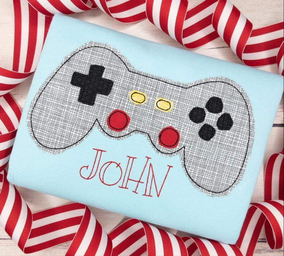 Video Game Controller Applique SS-Embroidery Boutique