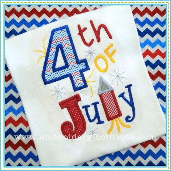 Fourth of July Applique - embroidery-boutique