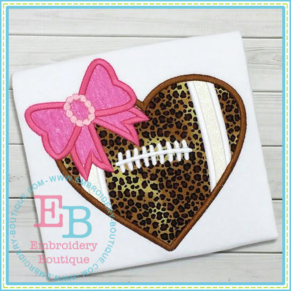 Football Heart Applique, Applique