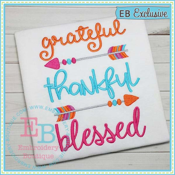 Grateful Embroidery Design, Embroidery
