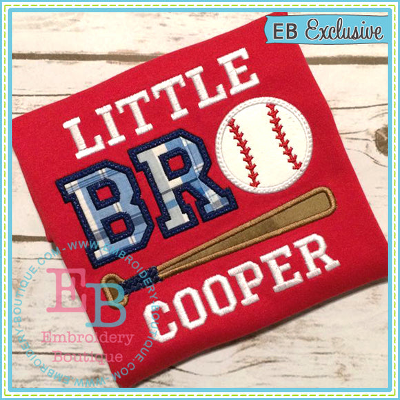 Little Bro Baseball Applique