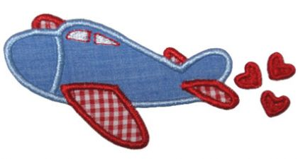 Airplane Heart Applique