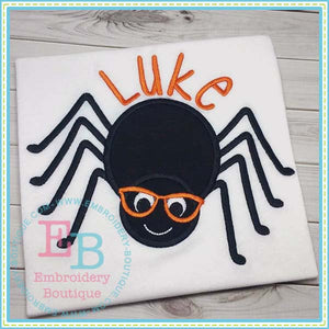 Spider Boy with Glasses Applique, Applique
