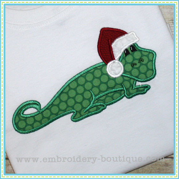 Santa Gator Applique, Applique