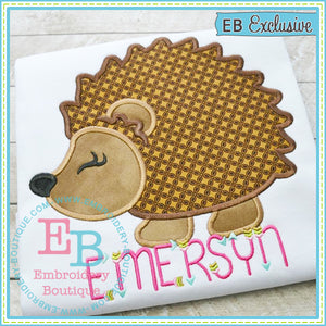 Woodland Hedgehog Applique - embroidery-boutique