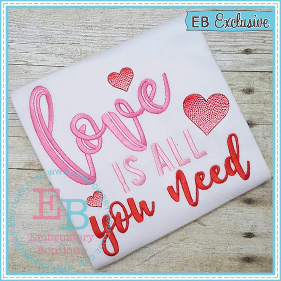 Love Is All Embroidery Design - embroidery-boutique