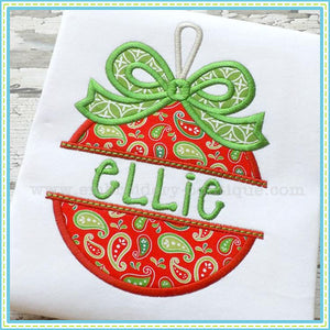 Split Bow Ornament Applique - embroidery-boutique