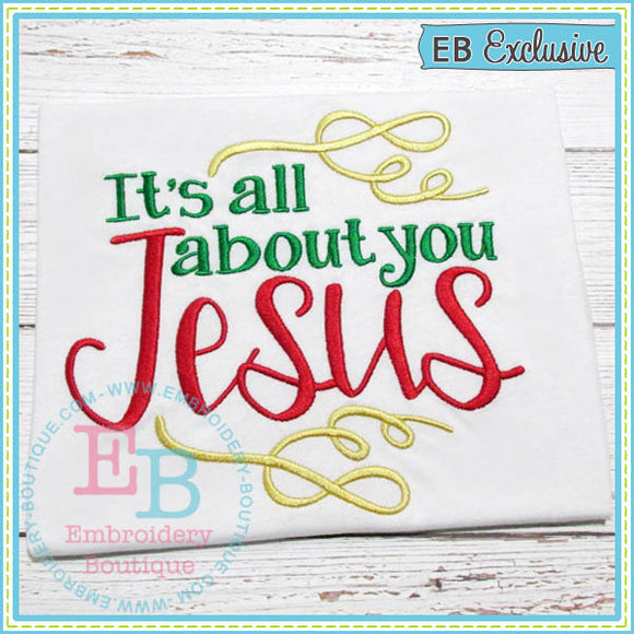 About You Jesus Embroidery Design, Embroidery