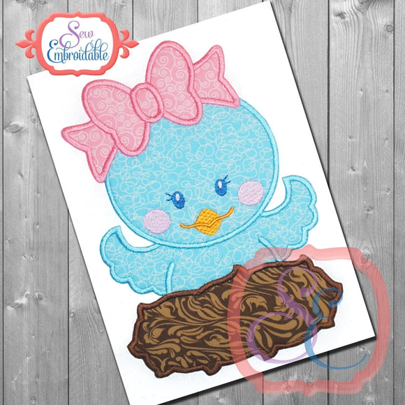 Pretty Birdie Applique - embroidery-boutique