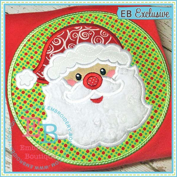 Santa Patch Applique - embroidery-boutique
