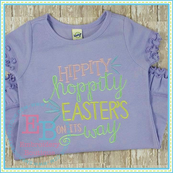 Hippity Hoppity Embroidery Design, Embroidery