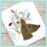 Deer Lights Applique